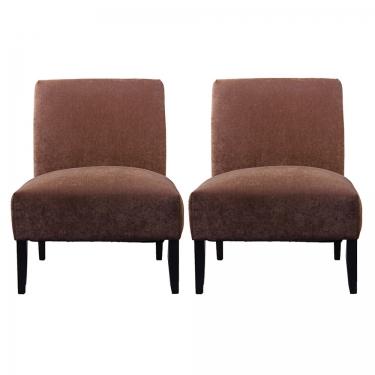 Brown Slipper Chairs (2) main image