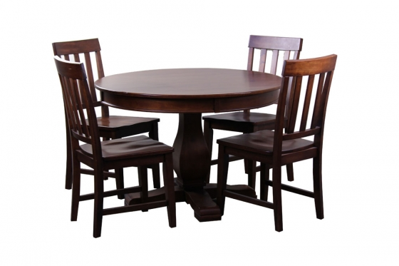 "45"" Round Wood Dining Table+ 4 Chairs  main image"