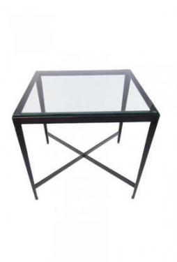 Glass Metal End Accent Table main image