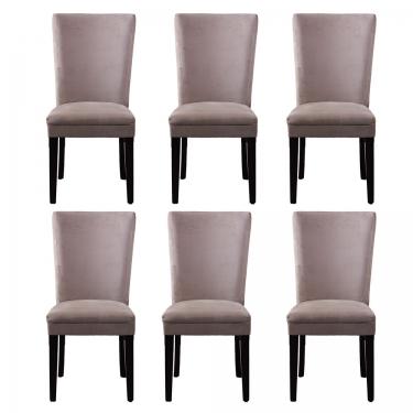 Tan Microfiber Dining Chairs (6) main image