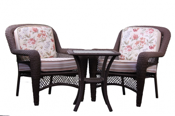Brown Rattan Outdoor Set main image