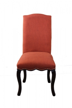 Orange Fabric Chair with Nailheads main image