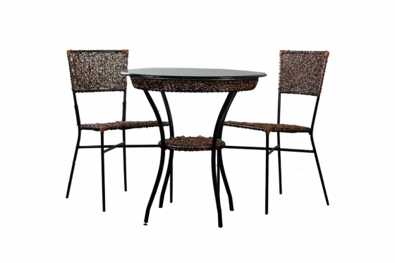 Copper Rattan Bistro Set (3) main image