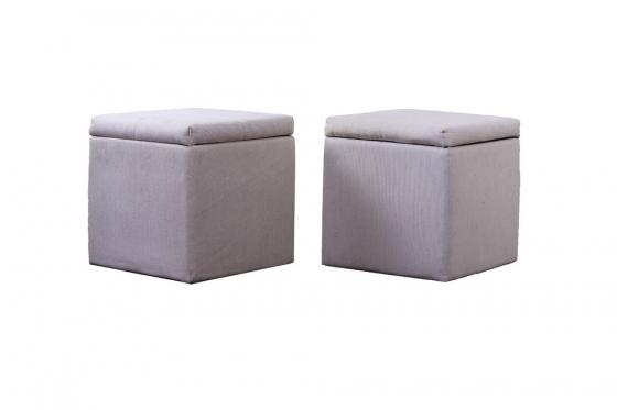 "18"" Cream Fabric Storage Cubes main image"