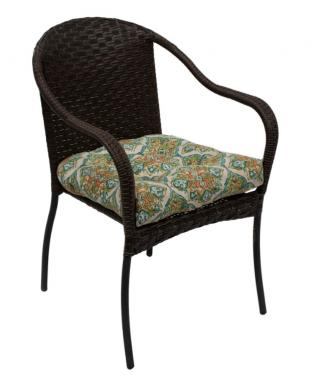 Outdoor chairs w/ floral cushions  main image