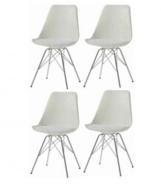 White Dining Chairs (Set of 4) main image