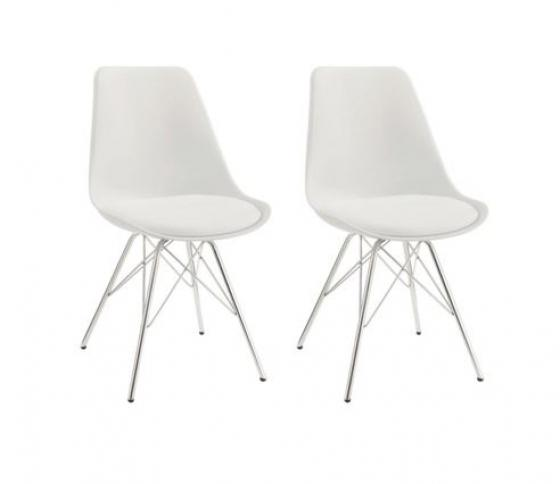 White Dining Chairs (2) main image