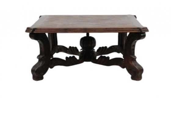 Carved Wood Mediterranean Coffee Table  main image