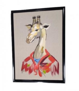 Grey Frame Llama w/ Flower Crown main image