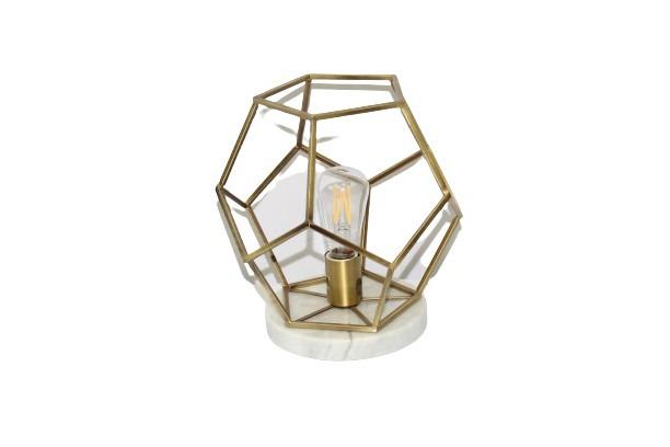 Geometric Lamp on Marble Base main image