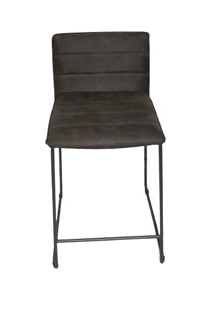 Three Modern Brown Bar Stools on Metal Legs  main image