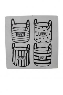 White Wood Laundry Panel  main image