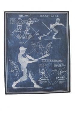 Blue & White Baseball Canvas Art main image