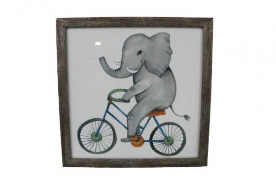 Wood Framed Elephant Riding Bike main image