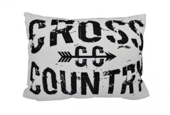 """White """"Cross-Country"""" Pillow main image"""