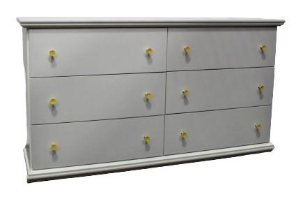 Six Drawer White Dresser main image