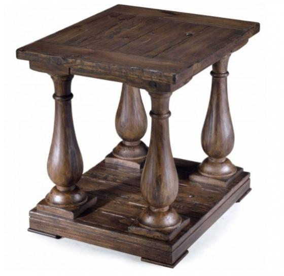 Wood Square End Table main image