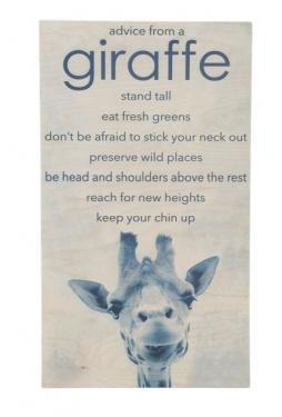 Giraffe print on wood main image