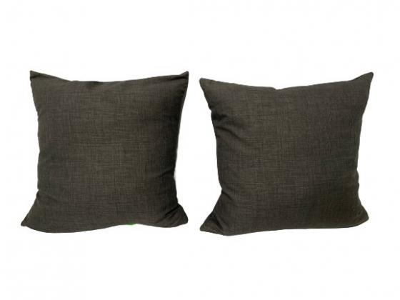 Two Charcoal Grey Linen 20 * 20 Pillows  main image