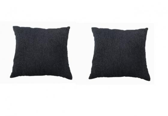 2 Textured Black 18 * 18 Pillows  main image