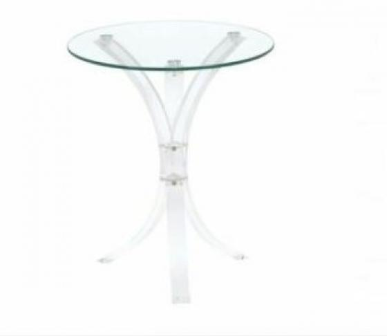Round Glass End Table main image