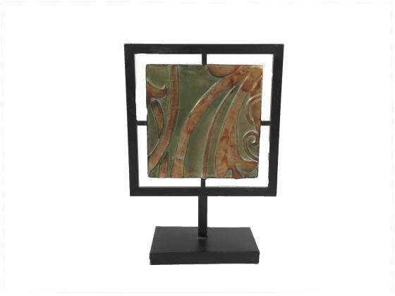 Square Metal Decor Art on Fixed Stand main image