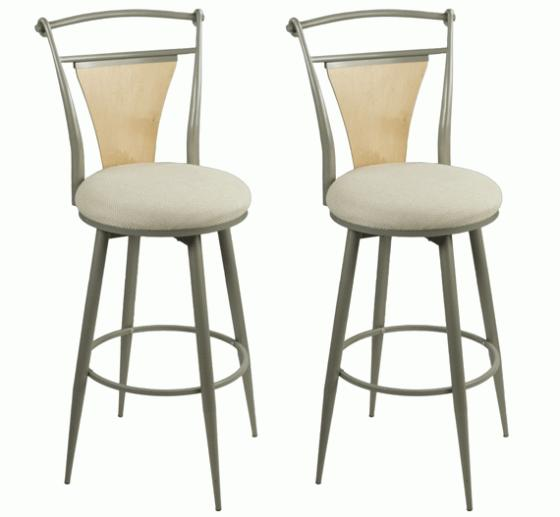 Maple and metal Bar stools main image