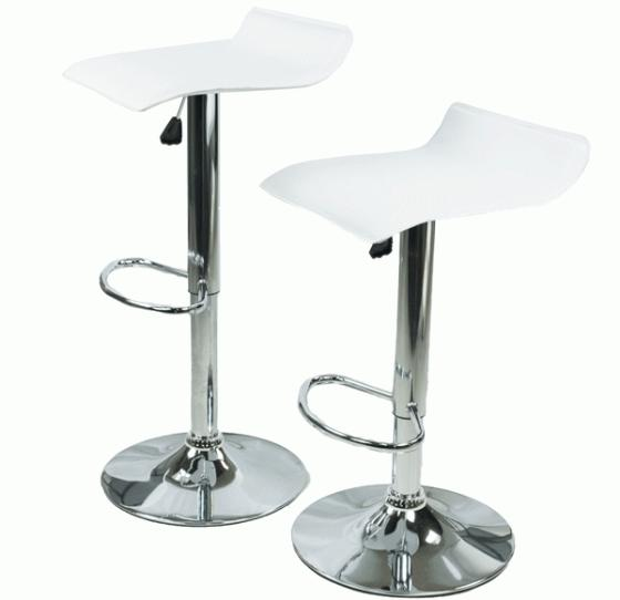 Adjustable White Bar Stools  main image