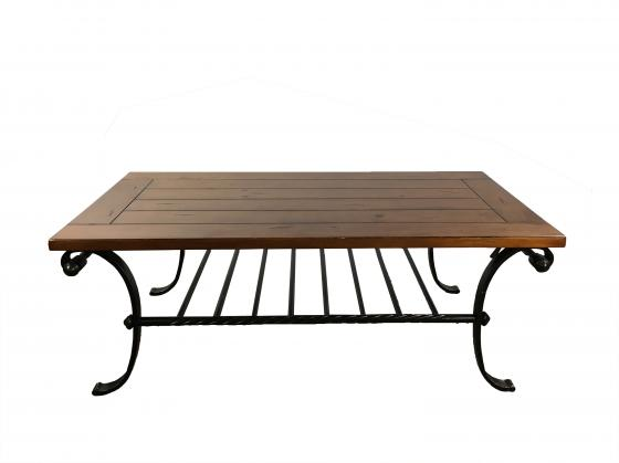Wood and Iron Coffee Table main image