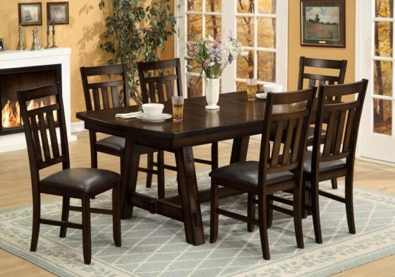Placid Lodge Dining Table with 6 chairs main image