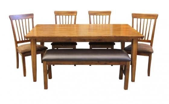 Brown Dining Set (6 Pieces) main image