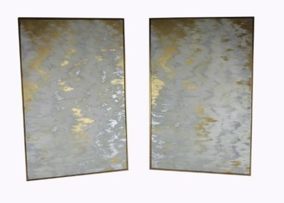 White And Gold Abstract Art Set main image