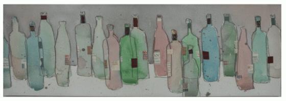 Watercolor Wine Bottles Canvas Art main image