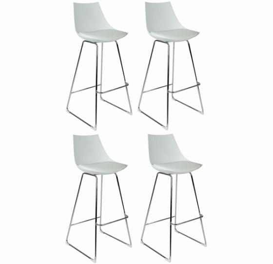 White Acrylic and Faux leather Bar Stools main image