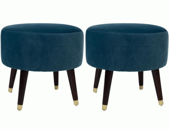Peacock Teal Ottomans main image