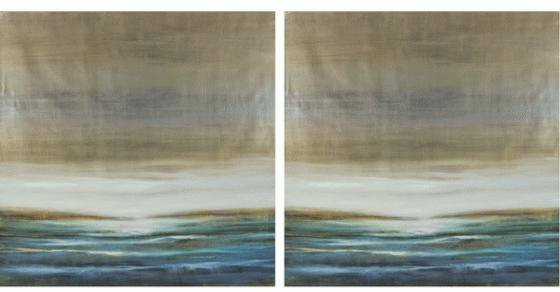 Abstract Waves Giclee Wood panels  main image
