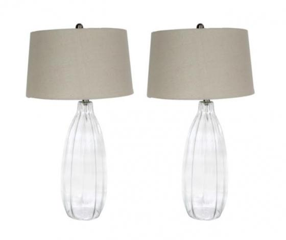 Sea Glass & Linen Lamps main image