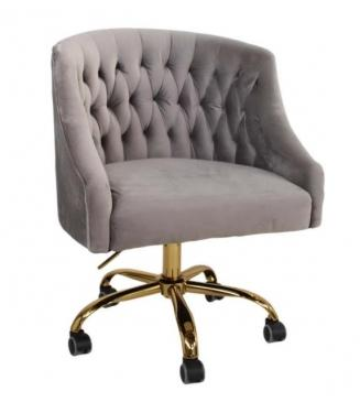 Club Tufted Swivel Rolling Desk Chair main image