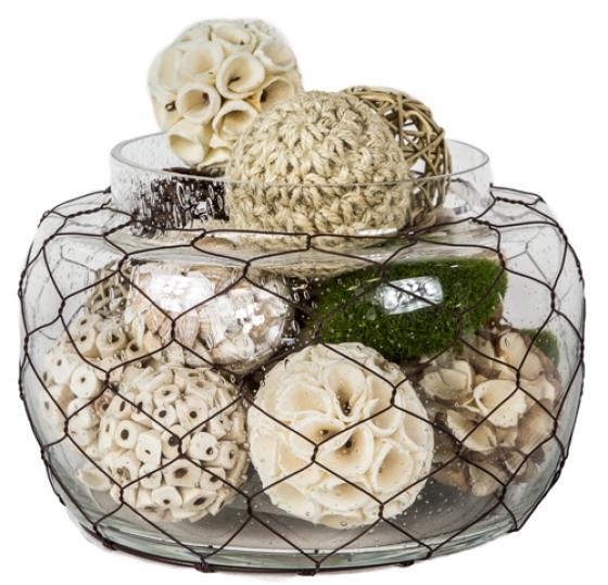 Fishnet Vase with Decor Balls main image