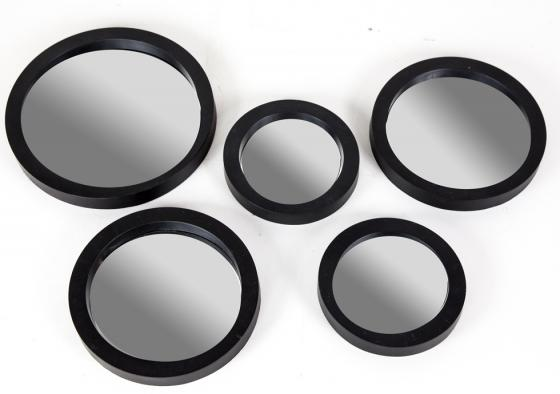 Thick Framed Mirrored Rounds Set main image