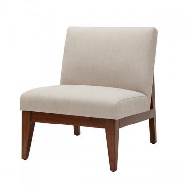 Kari Slant Back Wood Accent Chair main image