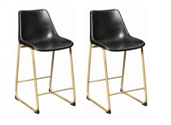 Black and Gold Counter Chairs main image