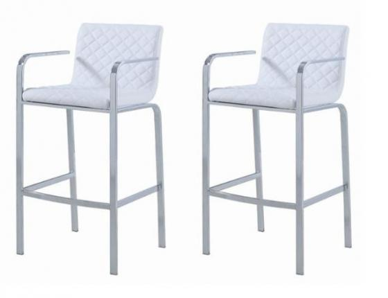 White and Chrome Barstools main image
