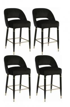 Black Eva Counter Height Barstools  main image