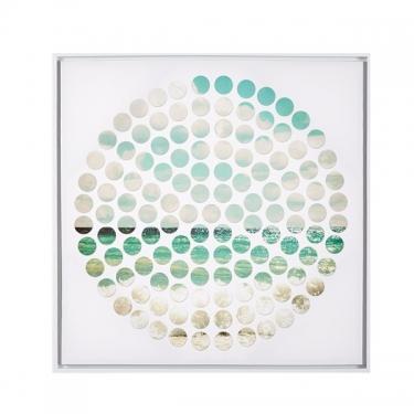 Aqua Ocean Tides Framed Canvas main image