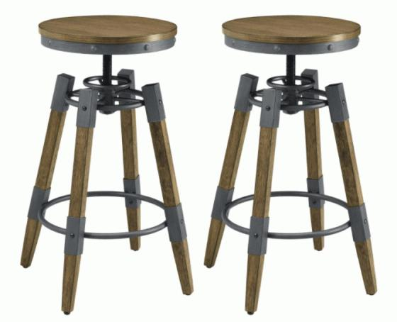 Hornell Rustic Adjustable Bar Stool main image