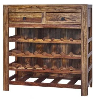 Rustic Wood Wine Cabinet main image