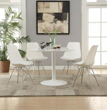 White Lowry Dining Set main image