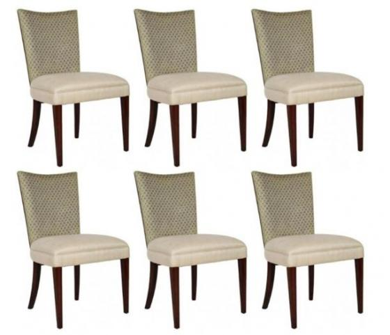 Set of 6 Biedermeier Style Walnut Dining Chairs main image