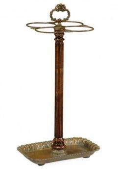 Walnut And Brass Umbrella Stand  main image
